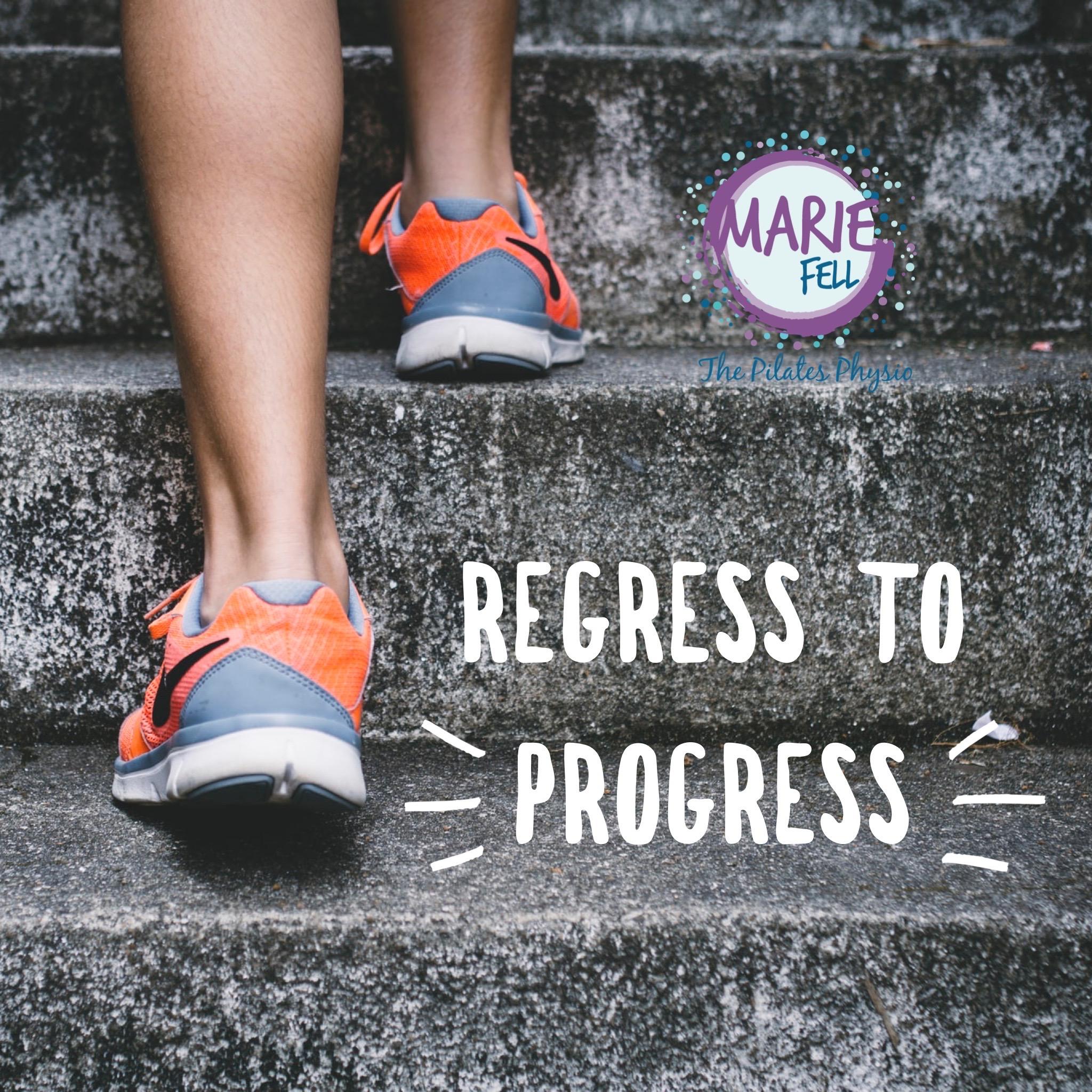 Regress to progress